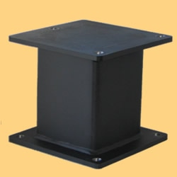 CM-1 pedestals can be made to bring them the isolators to an appropriate height to retrofit your existing air table. Contact us for a quote.
