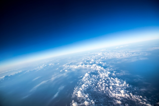 The characterisitc absorption of solar radiation by the ozone layer can be observed using LED sensors
