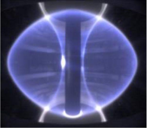 Spherical tokomak from plasma fusion research.