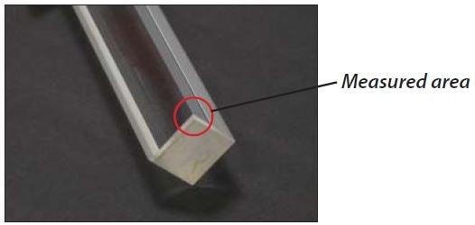 Quartz rid with near-perfect 90° corners