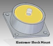 elastomer shock mount
