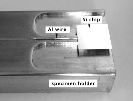 Typical wire-bond specimen prepared for test.