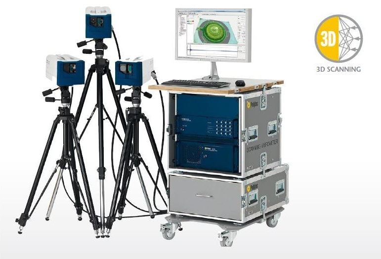 A 3D Scanning Vibrometer for full-field measurement to measure both out-of-plane and in-plane motions.