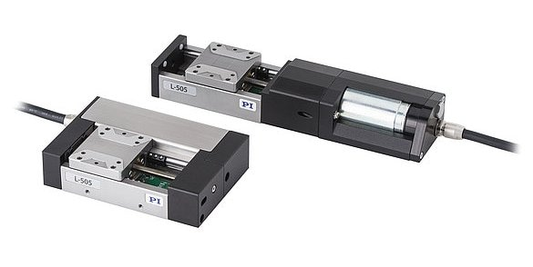 L-505 compact linear stage with folded drivetrain (left)