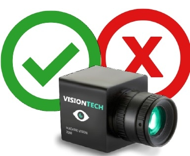Machine vision cameras are imaging solutions that locate and measure features using relative data only.