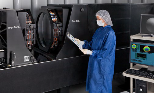 Large aperture interferometry ensures optics meet specifications before and after coating.
