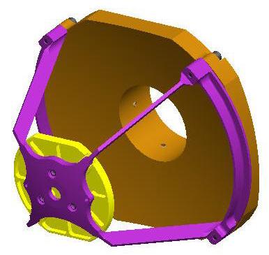 Isometric view of Cassegrain Telescope.