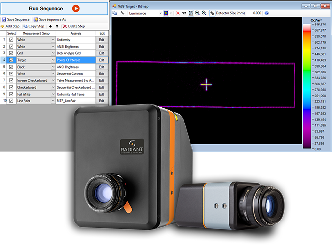 TT-HUD can be used with any ProMetric Imaging Colorimeter or Photometer, providing multiple options to achieve the field of view, pixel resolution, and cost requirements for your application.