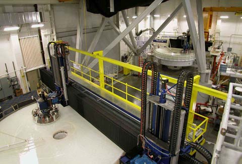 Dynamic interferometry data guides polishing of 8.4 meter and 6.4-meter mirrors