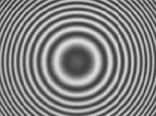 Fringes for a spherical surface in PSI mode (monochromatic illumination) are visible everywhere in the field of view.