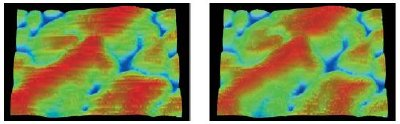 The Dektak 150 Vision software has a special feature that can filter out scan artifacts caused by thermal drift or vibration during a 3D map operation.