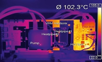 Measuring Temperature of Small Components in Infrared Cameras