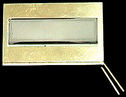 Example of a fiber optic spectroscopy sensor overcoated with GdO phosphor