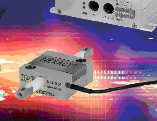 Compact, yet forceful nonmagnetic piezo linear motor with controller.