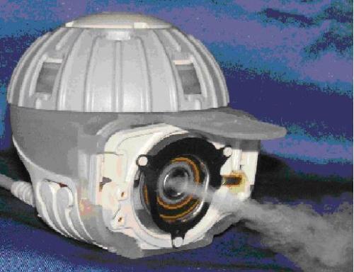 Medical piezo ultrasonic transducer application: The atomizer head of the eFlow® rapid Electronic Nebulizer.