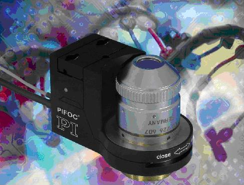 Piezoelectric High-Speed Microscope Objective Nanofocusing Device (Z-Motor) provides millisecond responsiveness nanometer resolution, essential for DNA research.