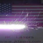 JK Lasers Create an Independence Day Message Using Their 400W Fiber Laser